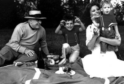софи лорен и её дети фото